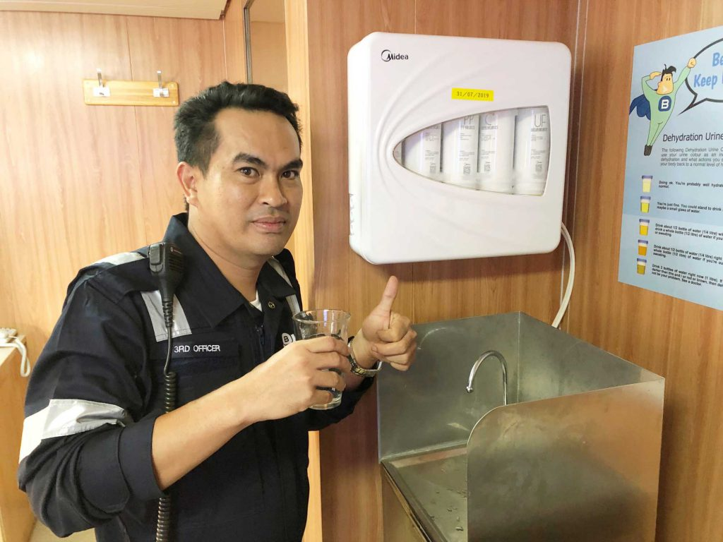 Water purification systems on our ships